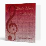 Carpeta de la colección de la hoja de música del C