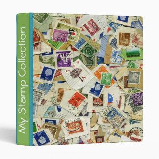 Carpeta de la colección de sello del vintage
