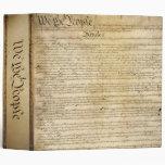 Carpeta de la constitución de Estados Unidos del v