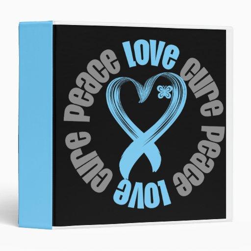 Carpeta de la curación del amor de la paz del cánc