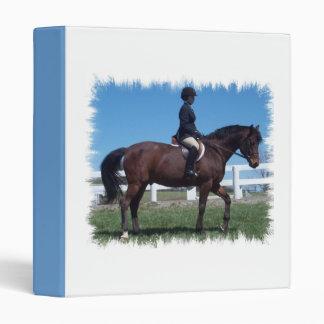 Carpeta de la demostración del caballo del cazador