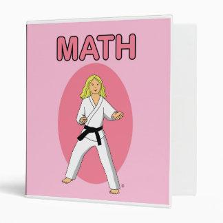Carpeta de la escuela de artes marciales para la c