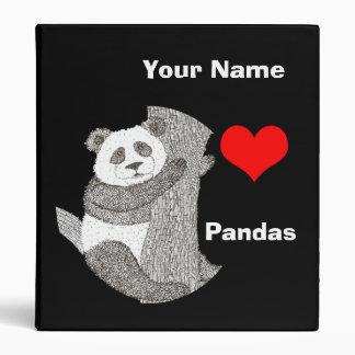 Carpeta de la escuela de la panda