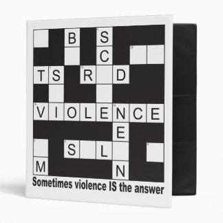 Carpeta de la escuela del crucigrama de la violenc