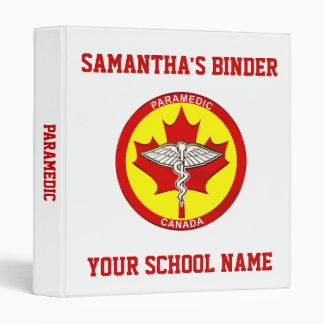 Carpeta de la escuela - paramédico Canadá