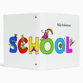 Carpeta de la escuela - su nombre de Childs
