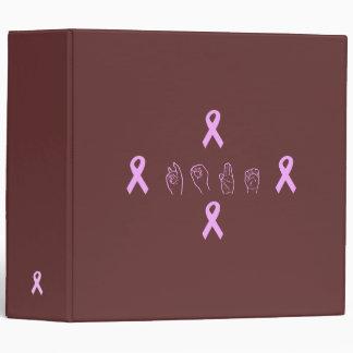 Carpeta de la esperanza del cáncer de pecho del AS
