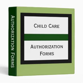 Carpeta de la forma de la autorización del cuidado