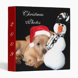 Carpeta de la foto de la chihuahua del navidad