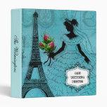 Carpeta de la foto de la novia de la torre Eiffel