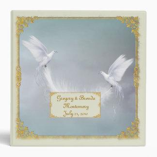 Carpeta de la foto de las palomas del boda