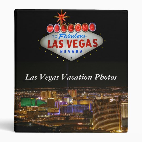 Carpeta de la foto de las vacaciones de Las Vegas
