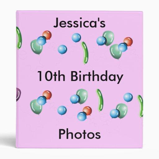 Carpeta de la foto del cumpleaños
