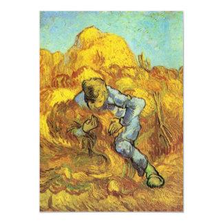 """Carpeta de la gavilla de Vincent van Gogh Invitación 5"""" X 7"""""""