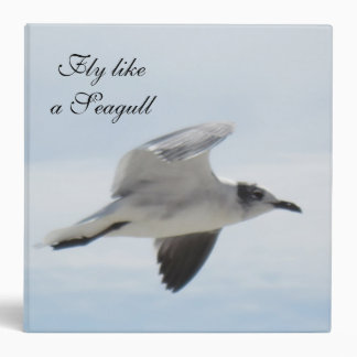 Carpeta de la gaviota del vuelo