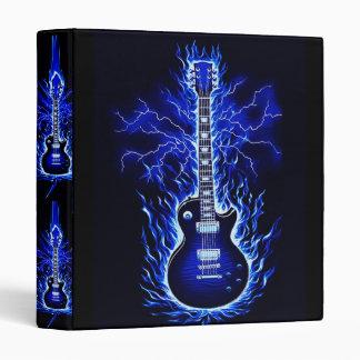 Carpeta de la guitarra de la explosión del azul