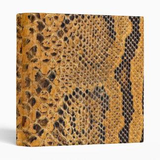 Carpeta de la impresión de la piel de serpiente