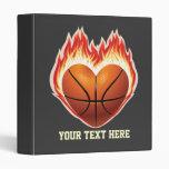 Carpeta de la llama del baloncesto (personalizada)