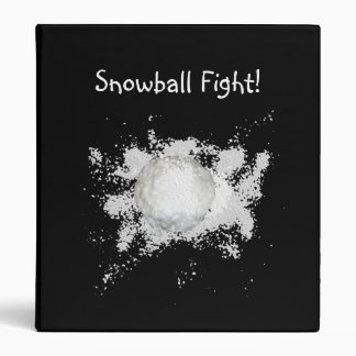 Carpeta de la lucha de la bola de nieve