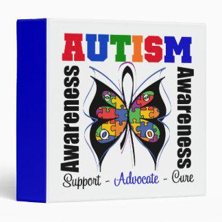 Carpeta de la mariposa de la conciencia del autism
