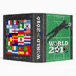Carpeta de la meta de campo de fútbol del mundial