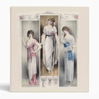 Carpeta de la moda del vintage de las señoras