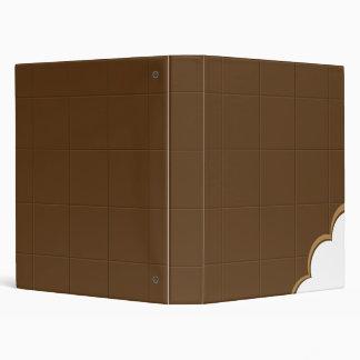 Carpeta de la mordedura del chocolate