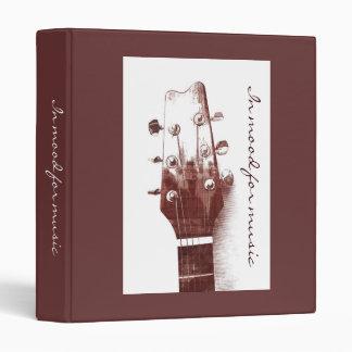 Carpeta de la música de la guitarra acústica