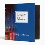 Carpeta de la música de órgano - azul 1 pulgada