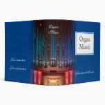 Carpeta de la música de órgano - azul 2 pulgadas