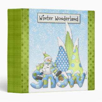 Carpeta de la nieve del país de las maravillas del