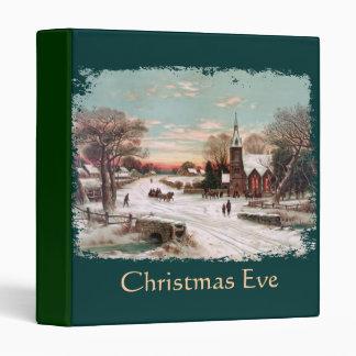 Carpeta de la Nochebuena del vintage