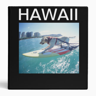 Carpeta de la nota del perro de Hawaii que