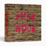 Carpeta de la pared de ladrillo del punk rock