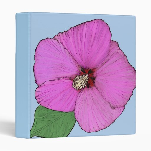 Carpeta de la pintura de la flor del hibisco