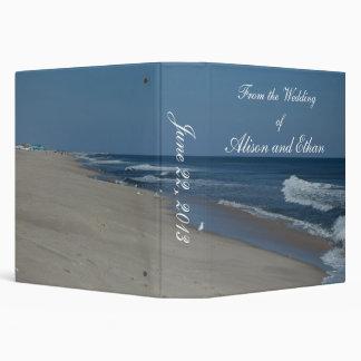 Carpeta de la playa y del boda del océano