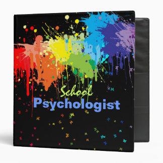 Carpeta de la psicología de la escuela en diseño d