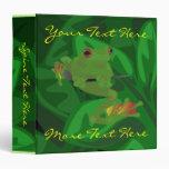 Carpeta de la rana de la selva