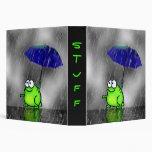 Carpeta de la rana del día lluvioso