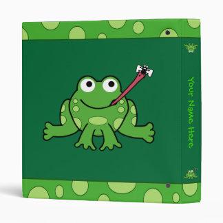 Carpeta de la rana personalizable