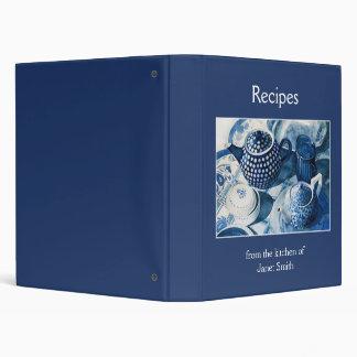 Carpeta de la receta - China azul sirve arte