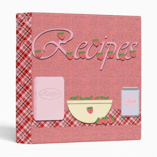 Carpeta de la receta con las fresas