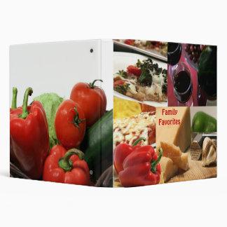 Carpeta de la receta de la comida