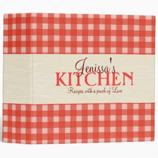 Carpeta de la receta de la comida campestre de 2