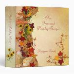 Carpeta de la receta de la elegancia del otoño