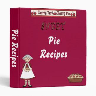 Carpeta de la receta de la empanada de la cereza