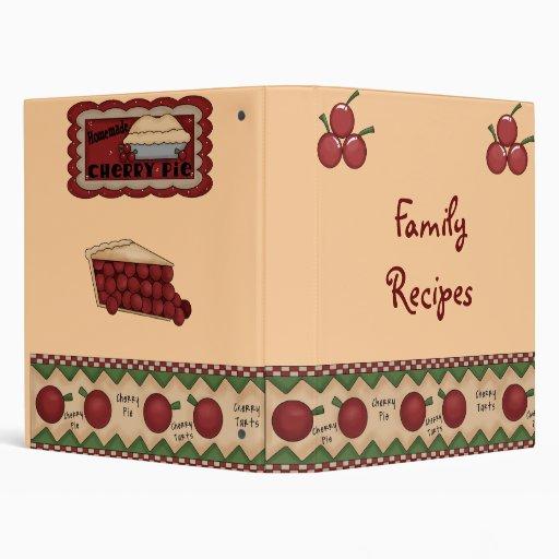 Carpeta de la receta de la familia