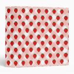 Carpeta de la receta de la fresa de la guinga