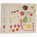 Carpeta de la receta de la fruta y de las flores