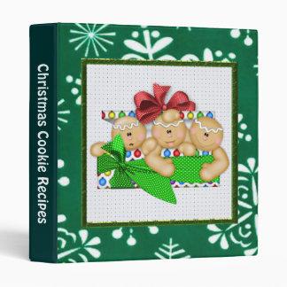 Carpeta de la receta de la galleta del navidad